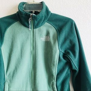 The north face zip up fleece Sherpa jacket